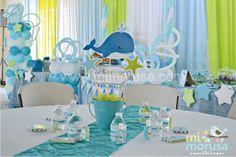 MI MORUSA Arte Digital: Decoracion Ballenita Baby Shower Baby Shower Azul, Mesas Para Baby Shower, Baby Shower Themes, Baby Boy Shower, Shower Ideas, Whale Birthday Parties, Boy First Birthday, Whale Party, Pirate Baby