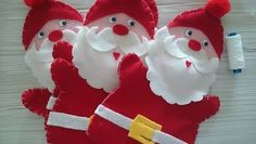 santa hand puppet pattern sew - Google Search Puppet Patterns, Sewing Patterns, Felt Stocking, Puppets, Wool Felt, Christmas Ornaments, Christmas Ideas, Sewing Projects, Crafts For Kids