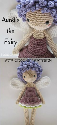 Lovely amigurumi fairy doll crochet pattern. Gorgeous toy doll to make for any child. Love this designer! #etsy #ad #amourfou #pdf #crochet #pattern