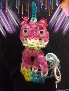 #Unikitty #Lego #unicorn #cat #rainbow loom Rainbow Loom Animals, Rainbow Loom Patterns, Rainbow Loom Charms, Unicorn Cat, Cheetahs, Loom Bands, Child Love, Ava, Chloe