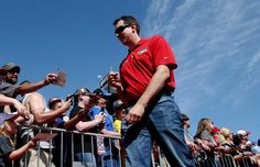 At-track photos: Saturday, Kansas:   Sunday, May 8, 2016  -   Kyle Busch, driver of the No. 18 M&M's Red Nose Toyota, walks to the driver's meeting before the GoBowling 400. Busch still seeks his first Sprint Cup Series win at Kansas.  -   Photo Credit: Photo by Sean Gardner/NASCAR via Getty Images