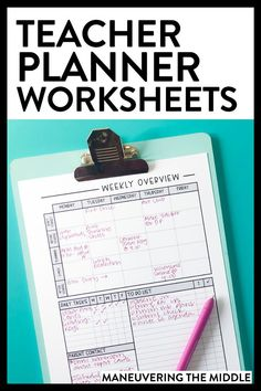 Teacher Discover Free Teacher Planner Worksheets Get organized using these free teacher planner printables! Instead of a typical planner I use these printables to capture what I dont want to forget. Free Lesson Planner, Teacher Planner Free, School Planner, Free Planner, Teacher Lesson Planner, Teacher Planning Binder, Planner Writing, Planner Stickers, Printable Planner