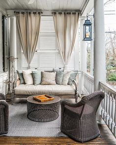 Outdoor Deck Ideas - southern serenity [ the perfect nook - some serious porch goals at the #ZeroGeorge hotel in Charleston, SC ] #gatheringslikethese