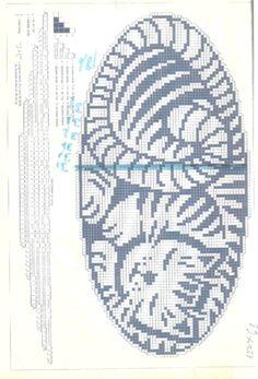 crochet filet or cross stitch chart
