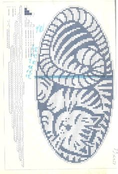 crochet filet or cross stitch chart