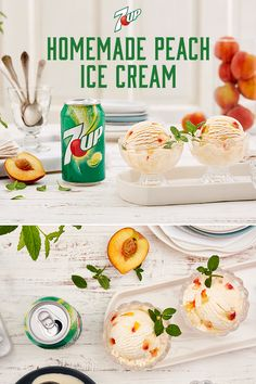 Peach Ice Cream from