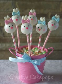 Bunny cake pops #bunnies #cakepops