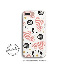 Love iPhone Case - iPhone 7 Case - iPhone 7 Plus Case - iPhone 6 Case - iPhone 8 Case - iPhone X Case - iPhone 8 Plus Case - Clear/Black by PetrichorCases on Etsy Iphone 8 Plus, Iphone 7 Cases, Phone Case, Iphone 6, Pet Tags, New Product, Your Dog, Vibrant Colors, Print Design