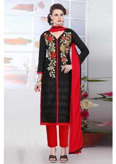 couleur noire coton glace salwar kameez, - 81,00 €, #Tenuepakistanaise #Robebollywood #Robeindienne #Shopkund