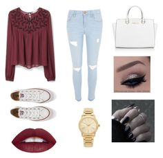 """""""Untitled #7"""" by lydiabickford on Polyvore featuring beauty, MANGO, River Island, Converse and Michael Kors"""