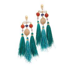GAS Bijoux Bellavista Earrings ($275) ❤ liked on Polyvore featuring jewelry, earrings, tassel jewelry, anchor earrings, earring jewelry, anchor jewelry and tassel earrings