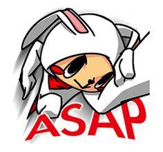 Free Flash Bunny Line Sticker - http://www.line-stickers.com/flash-bunny/