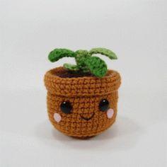 росток амигуруми крючком схема вязаной игрушки