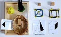 Geometric 3D shapes construction - Montessori #spielgaben