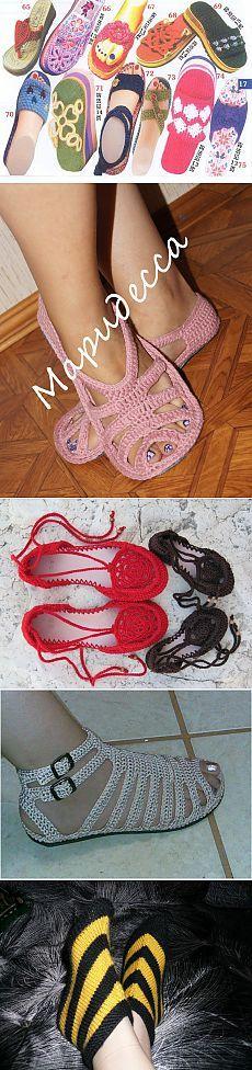 Idea. Modelos de zapatillas en ganchillo