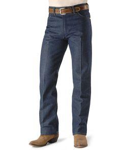 "Wrangler 13MWZ Cowboy Cut Rigid Original Fit Jeans - 38"" & 40"" Tall Inseams, Indigo Cut Jeans, Jeans Fit, Denim Jeans, Wrangler Cowboy Cut, Wrangler Jeans, Colored Denim, How To Slim Down, Denim Fabric, Dark Denim"