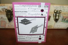 Purple congratulations graduate handmade card by AnLieDesigns, $2.00