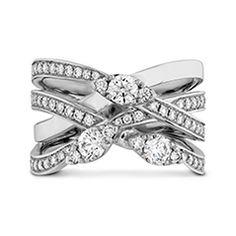 Hearts On Fire Aerial Diamond Right Hand Ring as seen in #InsideWeddingsMagazine