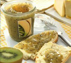 džem z kiwi a banánů Kiwi, Greek Desserts, Food Styling, Hummus, Cantaloupe, Delicious Desserts, Food To Make, Dishes, Fruit