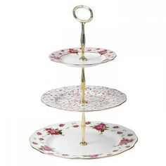 Cake Stands 177010: New Royal Albert Vintage Cake Stand Three-Tier -> BUY IT NOW ONLY: $55.25 on eBay!