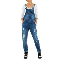 22,99 € - Jeans Latzhose mit authentischer Used-Waschung und coolen Destroyed-Effekten.