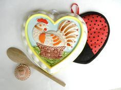Heart Shaped Vintage Ceramic Mold with Hand by TheSandlapperShop, $14.00