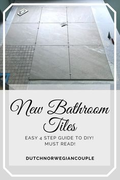 Today we want to focus on the tiles in your bathroom. And show you how tiles can be laid in an easy 4 step guide to doing it yourself. It's actually not difficult at all! Keep reading to find out more! We Can Do It, How To Find Out, How To Lay Tile, Shower Floor, Concrete Floors, Bathroom Flooring, Laminate Flooring, To Focus, Easy Diy Projects