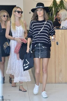Getting some tips about motherhood?: Candice was seen shopping with mom-of-two Alessandra ...
