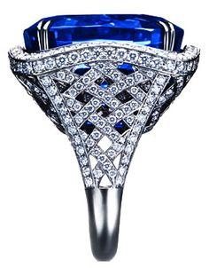 Asprey Sapphire & Diamond Ring
