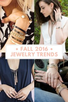 2016 Fall Jewelry Trends: Accessories are the easiest and most affordable way to update your wardrobe, so I put together a list of the biggest fall jewelry trends and how to wear them!