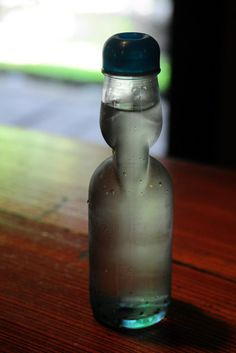 Japanese bottle for soda pops