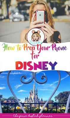 How to Prep Your Phone for a Disney Trip - Florida Urlaub - Disneyland Paris, Disneyland Vacation, Disneyland Tips, Birthday At Disneyland, Disneyworld Packing List, Disneyland Anniversary, Disneyland Orlando, Disney World Vacation Planning, Walt Disney World Vacations