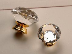 Glass Knobs / Crystal Knobs / Dresser Knobs / Drawer by Anglehome
