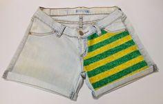 Passo a passo customização de short jeans
