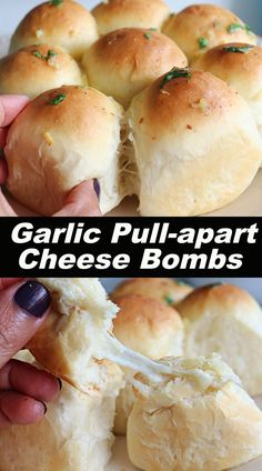 Soft, buttery, flavorful and delicious cheese bombs from the scratch !!! #garliccheesebombs #garliccheesebread #pullapartcheesebread Sweets Recipes, Indian Food Recipes, Healthy Recipes, Pull Apart Cheese Bread, Cheese Bombs, Garlic Cheese Bread, Garlic Butter Sauce, Vegetarian Food, The Fresh