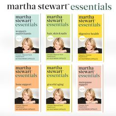 Did you know I have a new line of supplements called Martha Stewart Essentials? Check your Sunday paper for a $2 off coupon valid at both Walgreens and HyVee #marthastewartessentials #healthyliving
