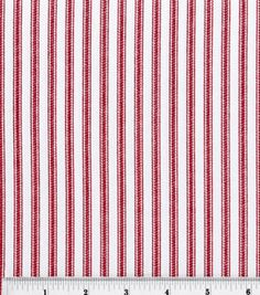 Home Essentials Print Fabric-Timeless Ticking Nautical Red Red Home Decor, Home Decor Fabric, Carnival Nursery, Nautical Home, Drapery Fabric, Curtains, Fabric Wallpaper, Ticks, Joanns Fabric And Crafts