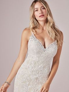 Go full beach mode in this romantic mermaid wedding dress. (Even the lace motifs look like seashells and sunset waves!) Adelaide is available at the Atlas Bridal Shop. Atlas Bridal Shop is a bridal & wedding dress shop in Toledo, Ohio. Find wedding dresses, bridal gowns, veils & hair accessories, plus size, sleeves, beach, destination, formal, wedding dress styles. Wedding dress designers include Morilee, Allure Bridal, Allure Couture, Maggie Sottero, Rebecca Ingram, Sottero Midgely and more.   Size 12 Wedding Dress, V Neck Wedding Dress, Wedding Dress Trends, Wedding Gowns, Formal Wedding, Wedding Hair, Bridal Dresses, Bridesmaid Dresses, Blush Gown