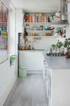 Love this cute, little kitchen.