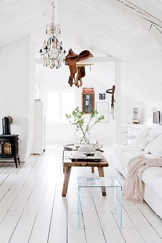 Scandinavian white country style home