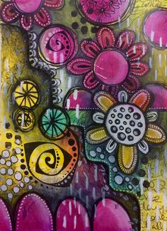 'Sometimes there is no plan' art journal page | by Tr4cy1973
