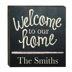 Chalkboard Welcome Sign - Welcome guests with this on-trend, chalkboard-inspired panel by Walnut Hollow.