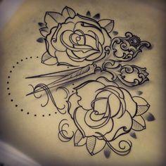 ..This might be my next tattoo. Very cute!\scissor tattoo   Tumblr