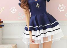 Nautical-Navy Blue,White