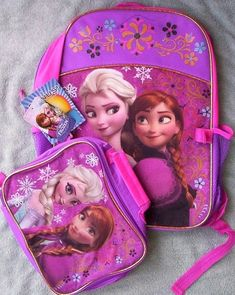 """FEVER LARGE SCHOOL BAG 16/"""" NWT DISNEY/'S FROZEN BACKPACK AND//OR LUNCH BOX SET"""