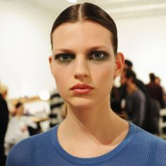 Derek Lam shows off an intense smoky eye. The best beauty looks from Fall 2014 are all here.