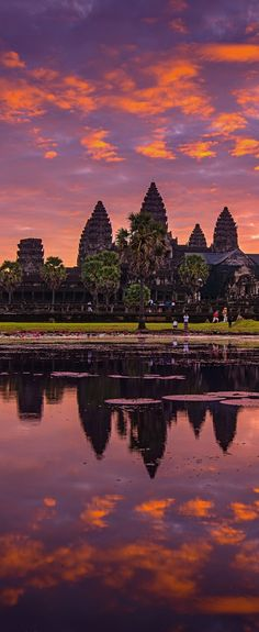 Angkor sunset, Cambodia