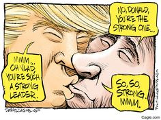 Trump/Putin Bromance | DarylCagle.com