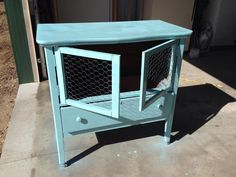 Clever brooder from upcycled dresser!