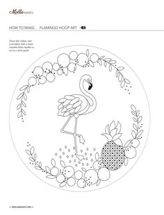 Readly - Mollie Makes - 22 - Mollie Makes is a brand new lifestyle and craft magazine which brings you the best of craft online, a look inside t Hand Embroidery Patterns Free, Basic Embroidery Stitches, Hand Embroidery Videos, Embroidery Flowers Pattern, Embroidery Motifs, Learn Embroidery, Hand Embroidery Designs, Embroidery Kits, Stencil